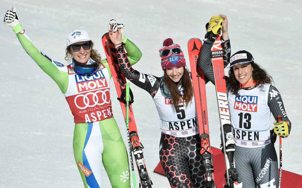 Tina Weirather gewinnt Kristallkugel (© Keystone)