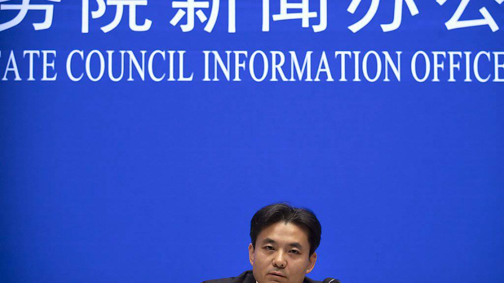 Yang Guang, Sprecher des für die chinesische Sonderverwaltungszonen Hongkong und Macau zuständigen Büros des Staatsrats, richtet eine scharfe Warnung an die Protestbewegung in Hongkong.