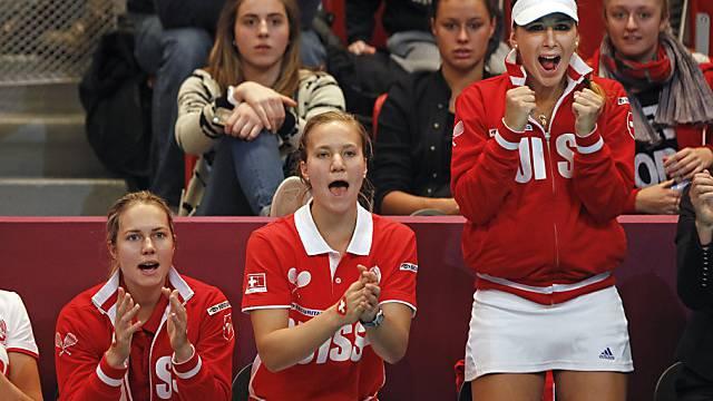 Das Schweizer Fedcup-Team dieses Jahr in Paris