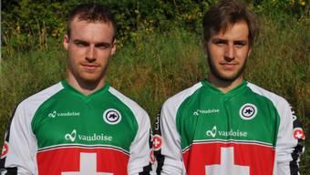 Simon Waldburger (links) und Roger Keller blicken zuversichtlich auf die WM-Rennen.