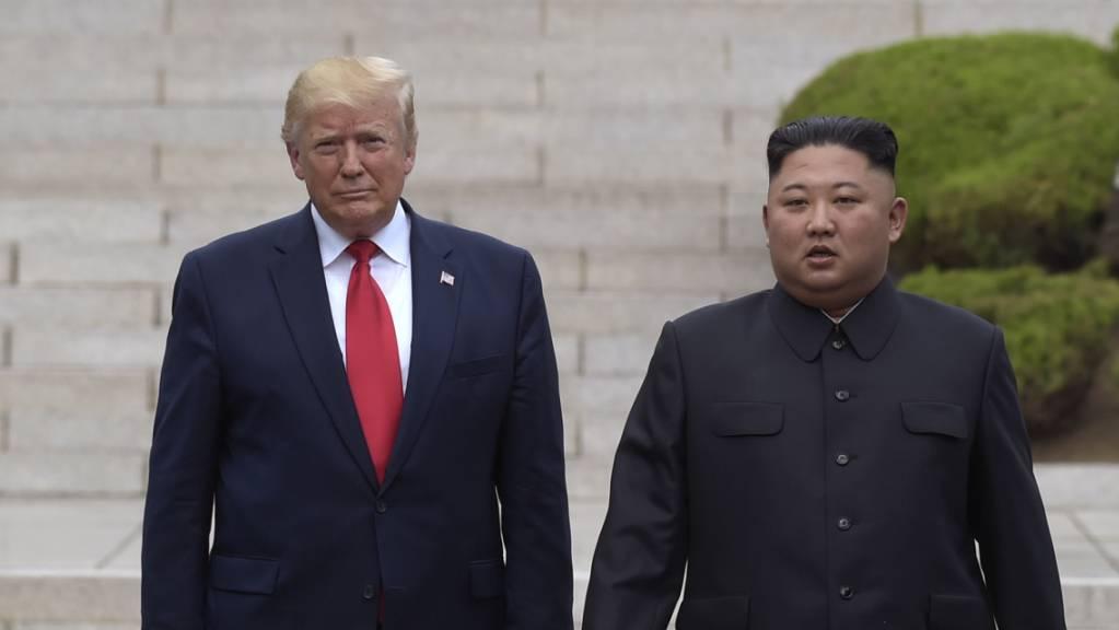 Die USA unter Führung von US-Präsident Donald Trump haben das abgeschottete Nordkorea von Diktator Kim Jong Un am Montag aufgefordert, zum Dialog über atomare Abrüstung zurückzukehren. (Archivbild)
