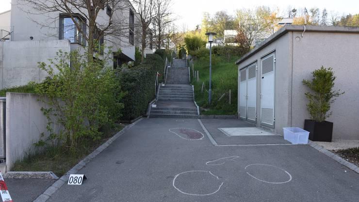 Der Knabe versuchte mit seinem Mountainbike die Steintreppe hinunterzufahren, als es zum Sturz kam.