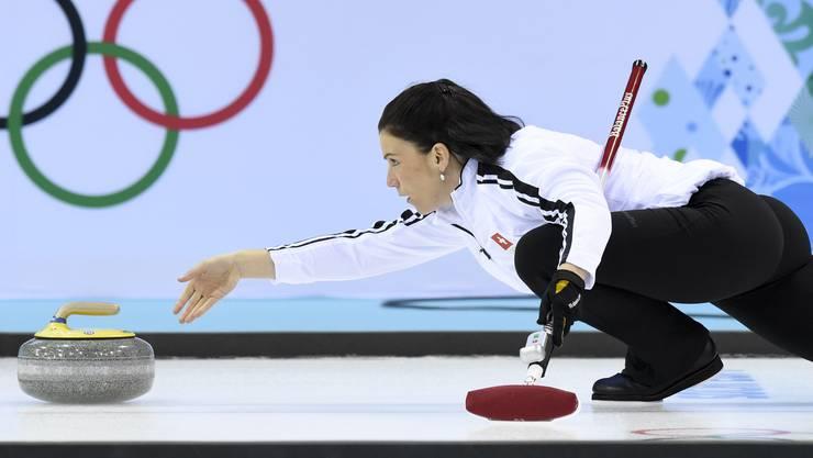 Zeit, um loszulassen Carmen Küng gab an den olympischen Spielen in Sotschi ihren letzten Stein als Spitzensportlerin ab.