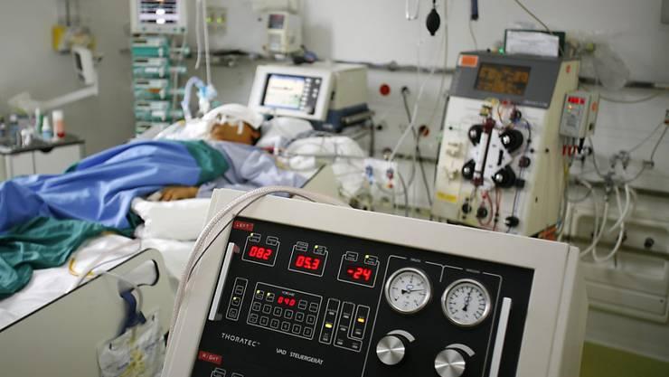 Drei Covid-19-Erkrankte benötigen in Solothurn seit dieser Woche Intensivpflege.