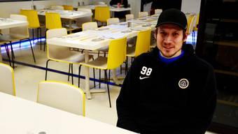 Damien Brunner im Stadionrestaurant der Resega