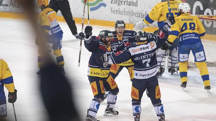 Die Zuger jubeln wieder: Nach zwei Niederlagen in Serie kehrt der EVZ zum Siegen zurück