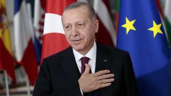 Recep Tayyip Erdogan: Der türkische Präsident sucht nach heftigen Anfeindungen nun wieder die Nähe zur EU.
