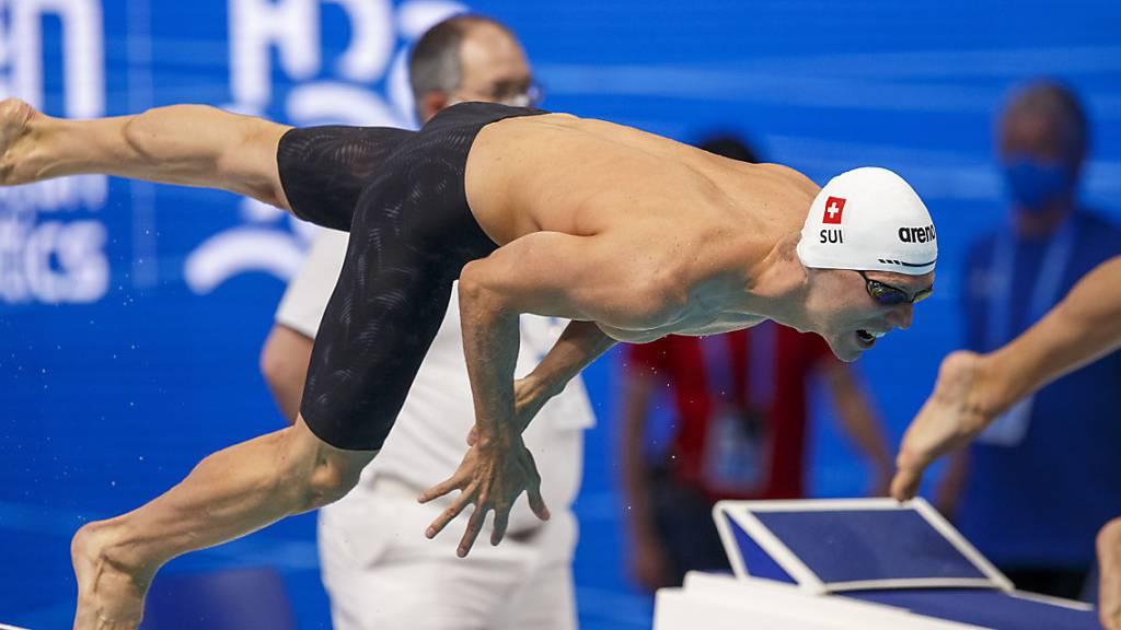 Titelverteidiger Jérémy Desplanches zog im EM-Vorlauf über 200 m Lagen nicht voll durch, dennoch verzeichnete er am Ende die beste Zeit aller 42 Teilnehmer