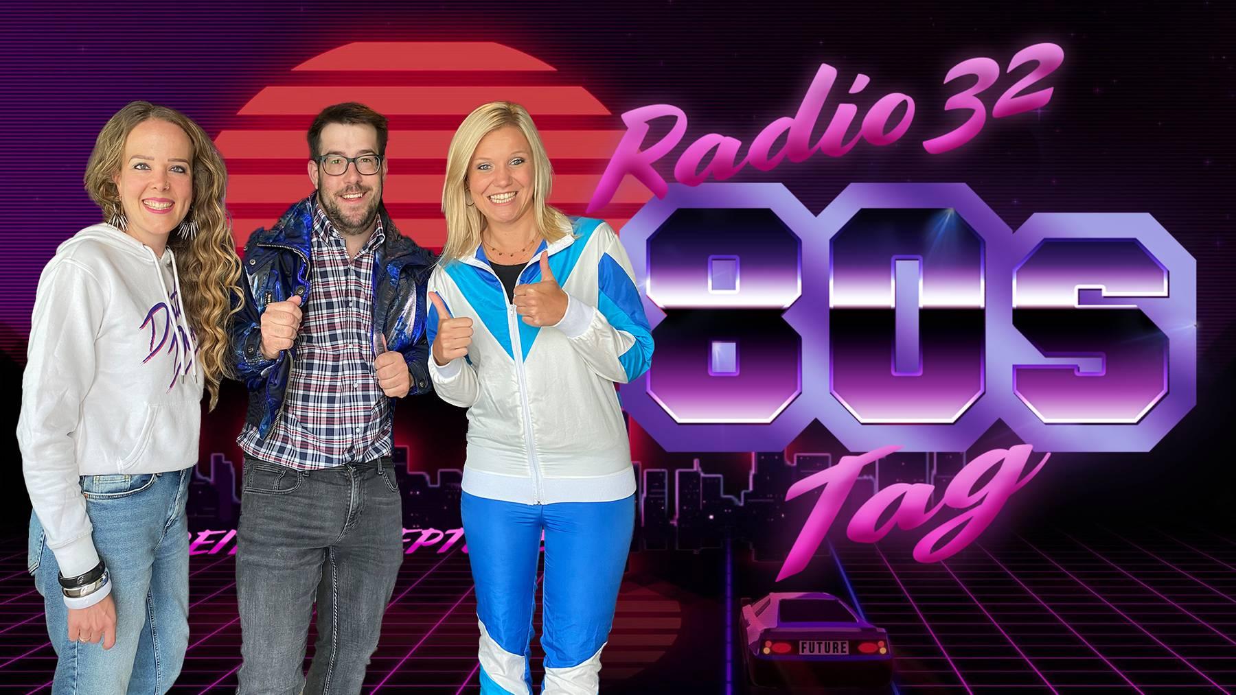 Radio 32 Morgenshow Team - 80er Tag