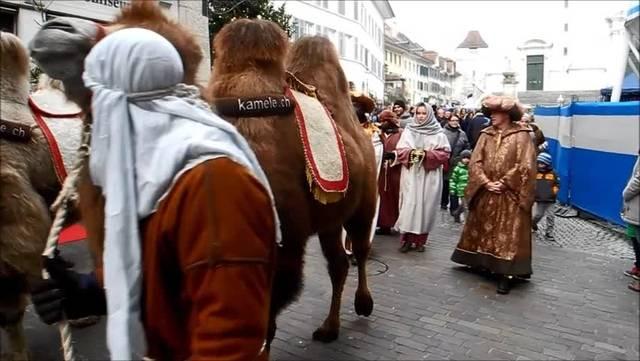 Römische Patrouillen, Kamele und der aufgebrachte König Herodes an der Solothurner Weihnachtsreise