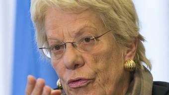 Carla del Ponte: Ihr kompromissloses Vorgehen gegen organisierte Kriminalität trug ihr den Spitznamen Carlita la pesta (Carlita, die Pest) ein. (Archiv)