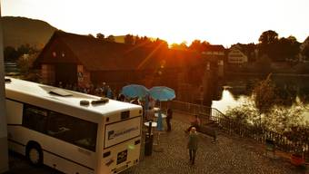 Der az-Wahlkampfbus in Stein