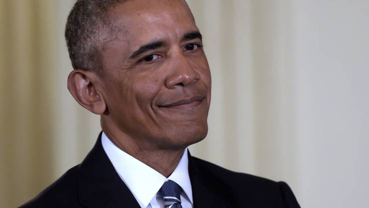 Ob er als Trauzeuge auch eine Rede gehalten hatte? Der scheidende US-Präsident Barack Obama war Trauzeuge bei der Hochzeit zweier ehemaliger Mitarbeiter. (Archivbild)