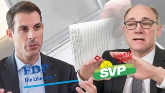 Trotz aller Differenzen: die Listenverbindung zwischen der SVP und der FDP bleibt bestehen.