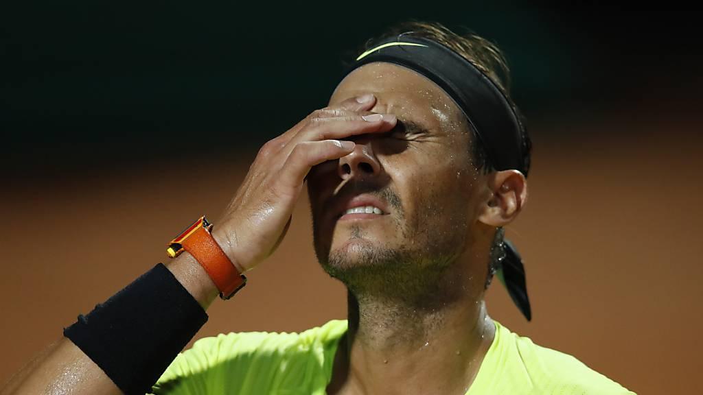Kein guter Abend: Rafael Nadal scheiterte am späten Samstagabend in Rom im Viertelfinal