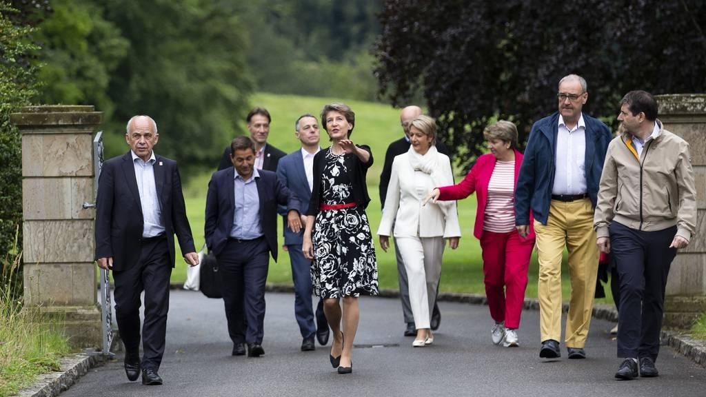 Anfangs Juli unternahm der Bundesrat noch den ersten Teil seiner Reise, der in die Region Gantrisch im Kanton Bern führte.