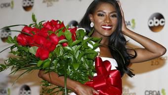 Nia Franklin, Miss America 2019,  posiert am 10. September 2018 in Atlantic City, New Jersey.