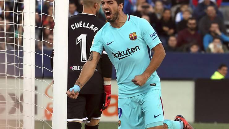 Überwand Leganes' Goalie zweimal: Luis Suarez vom FC Barcelona