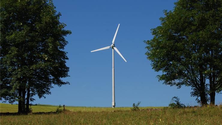 Mitwirkungsverfahren voraussichtlich ab Herbst. Diese Windkraftanlage steht in Schwängimatt, Laupersdorf.