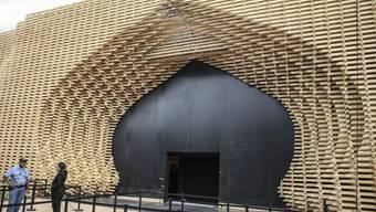 Eingang zum Konferenzzentrum in Marrakesch, wo die UNO-Klimakonferenz stattfindet.