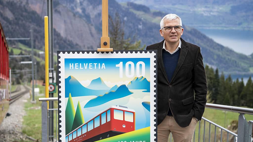 Zum 150. Geburtstag: Post widmet den Rigibahnen eine Briefmarke