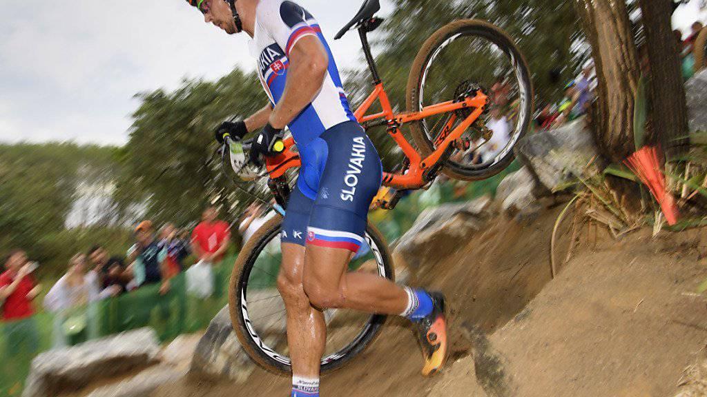 Im olympischen Bikerennen nach Blitzstart nicht vom Glück verfolgt: Peter Sagan