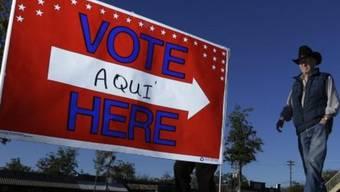 Vor einem Wahllokal in Texas
