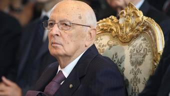Italiens Staatsoberhaupt Giorgio Napolitano (Archiv)