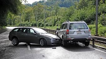 Am Nachmittag kam es zu einer Kollision zwischen zwei Fahrzeugen. (Markus Heinzer, newspictures)