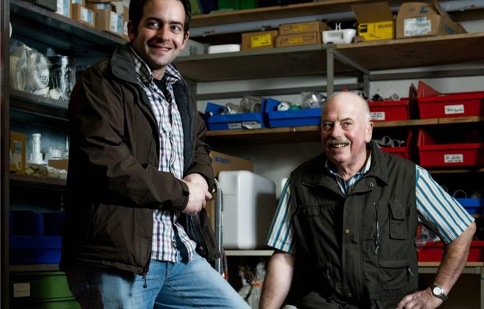 Nie bereut, dem Junior übergeben zu haben: Walter Vetterli und sein Sohn Martin Vetterli, der Halden Express nun leitet.