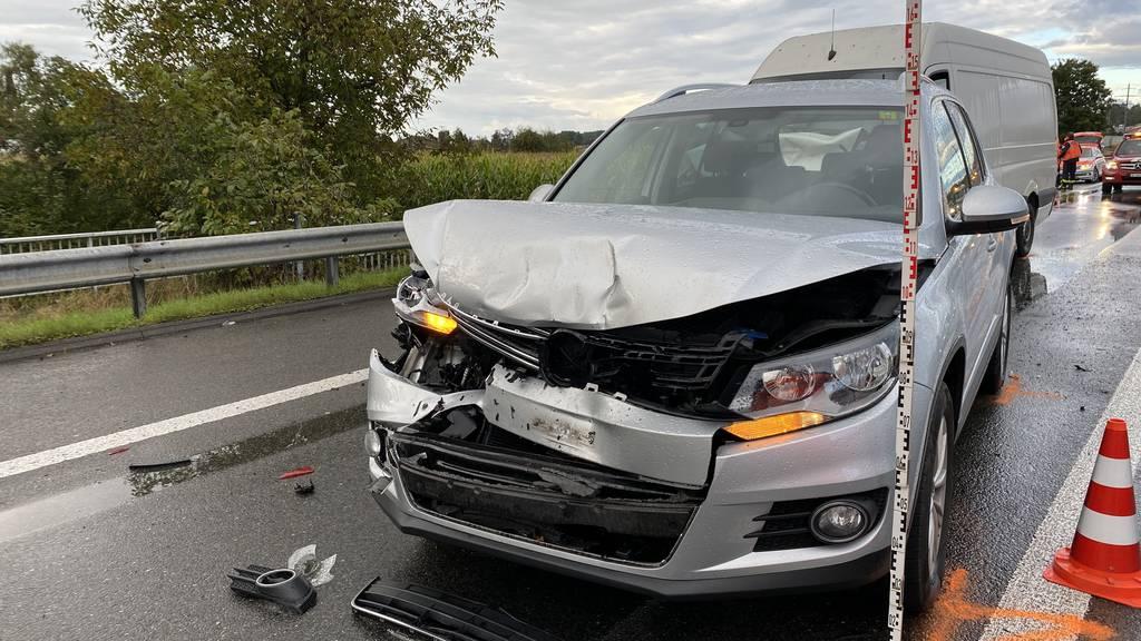 Unfälle auf A14 sorgten für langen Stau im Feierabendverkehr