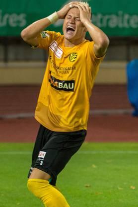 Beim FC Schaffhausen konnte sich  Ezgjan Alioski nicht von seiner besten Seite zeigen.