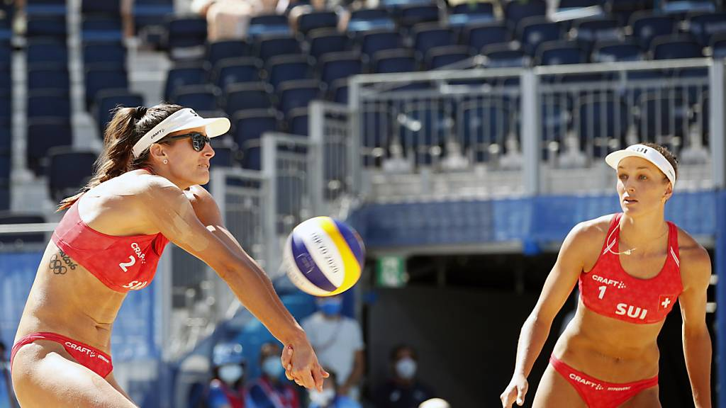 Beim World-Tour-Finale nicht mehr in Olympia-Form: Joana Heidrich (li.) und Anouk Vergé-Dépré