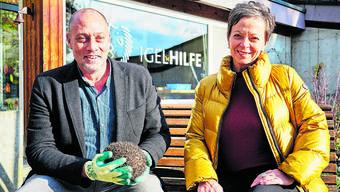Martin Ivar und Lucia Lanz haben das Projekt «Igel-Hilfe» zusammen aufgebaut.