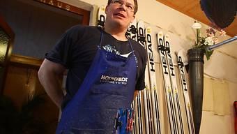 Servicemann Chris Krause schleift künftig die Ski von Bode Miller