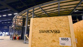 Umbau in der Messehalle für die Baselworld