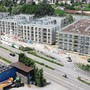 Die Rohbauarbeiten an den vier Gebäuden der zweiten Etappe des Salmenparks in Rheinfelden sind abgeschlossen.