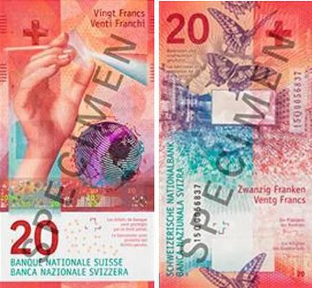 Die neue 20-Franken-Note