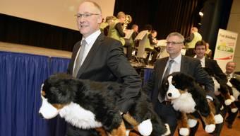 Hansjörg Knecht (vorne) verzichtet auf die Bundesratskandidatur.