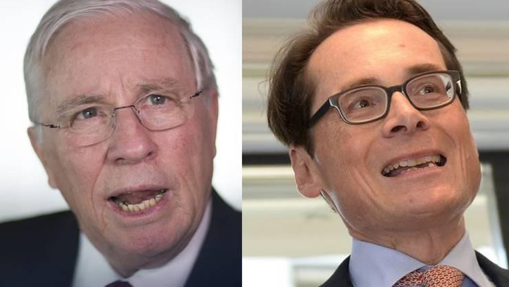 Blocher (l.) und Köppel haben die Kandidatur als SVP-Nationalrat des Weltwoche-Chefs vor dem Gang an die Öffentlichkeit besprochen.