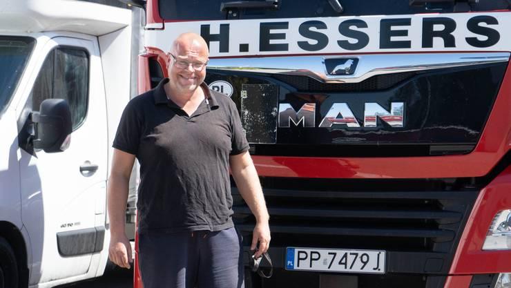 Ein Pole in Kölliken Chauffeur Piotr Wesolowski (44).