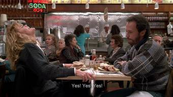 Die wohl berühmteste Filmszene zum Thema weiblicher Orgasmus: Meg Ryan spielt Billy Crystal im Restaurant einen Orgasmus vor.