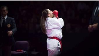 Die Karate Kämpferin Elena Quirici träumt von Olympia 2020 in Tokyo.