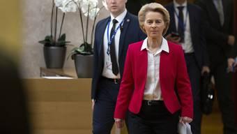 Ursula von der Leyen hat viel zu tun: Hier ist die EU-Kommissionspräsidentin für eine ausserordentliches Treffen wegen Libyen und Iran. Aber auch der Brexit macht Sorgen.