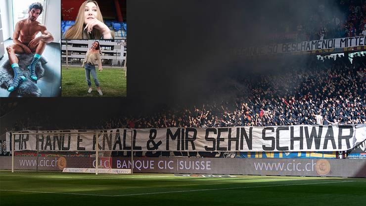 Mit dieser Protestaktion machten die FCB-Fans am Sonntag ihrem Unmut Luft.