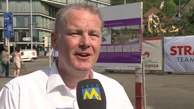 Spatenstich für Schulhausplatz Baden