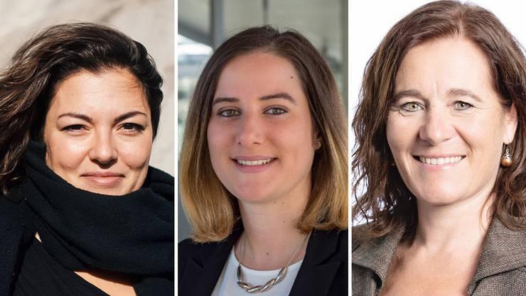 Bewerben sich als Co-Präsidentinnen bei den SP Frauen: Tamara Funiciello, Kaya Pawloska und Franziska Roth (v.l.)