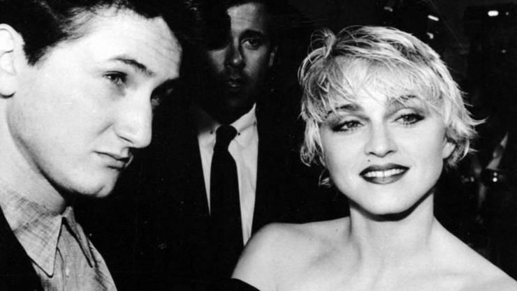Sean Penn und Madonna 1986 als jung verheiratetes Paar (Archiv)