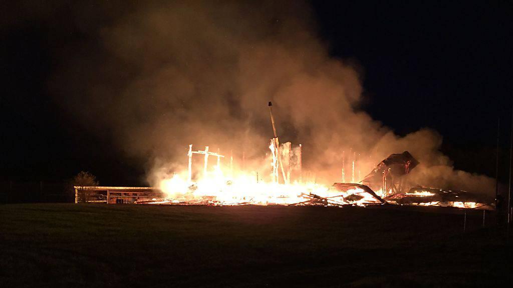 Holzbauunternehmen im Kanton Freiburg ein Raub der Flammen