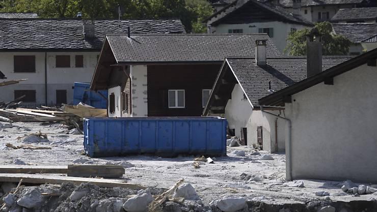 Die Menschen in der Schweiz haben fünf Millionen Franken für Bondo GR gespendet. Bei einem Bergsturz am 23. August und anschliessenden Murgängen ist das Bergeller Dorf in Mitleidenschaft gezogen worden. (Archivbild)